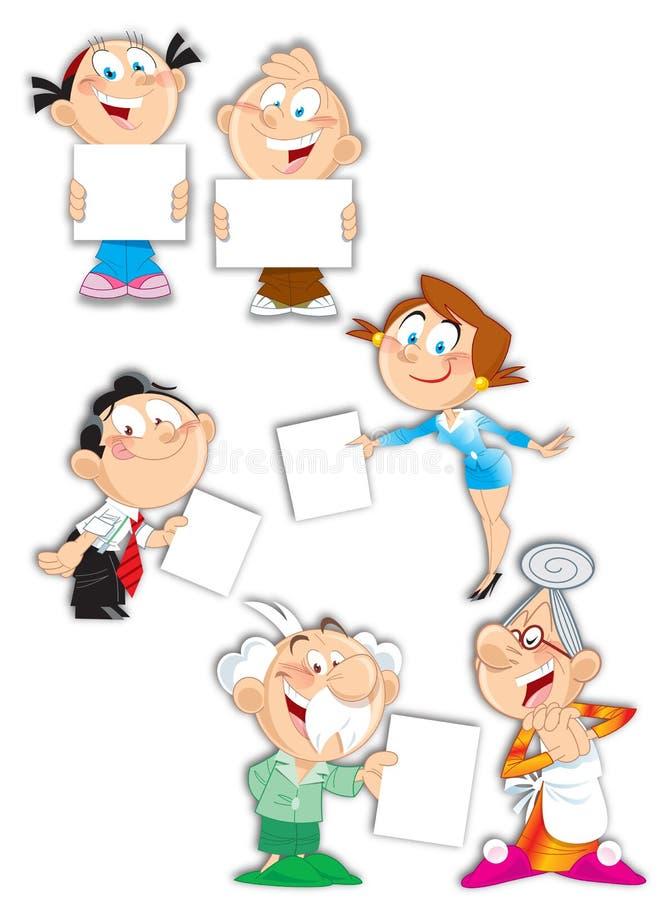 Caráteres da família ilustração royalty free