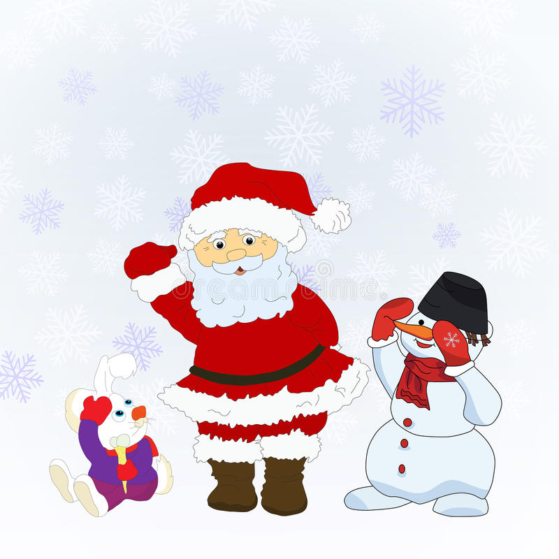 Caráteres de Santa Christmas ilustração royalty free