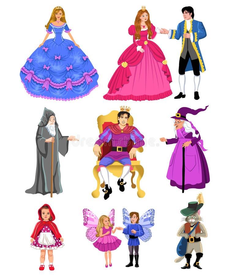 Caráteres do conto de fadas ilustração stock
