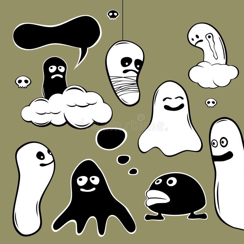 Caráteres do fantasma ilustração do vetor