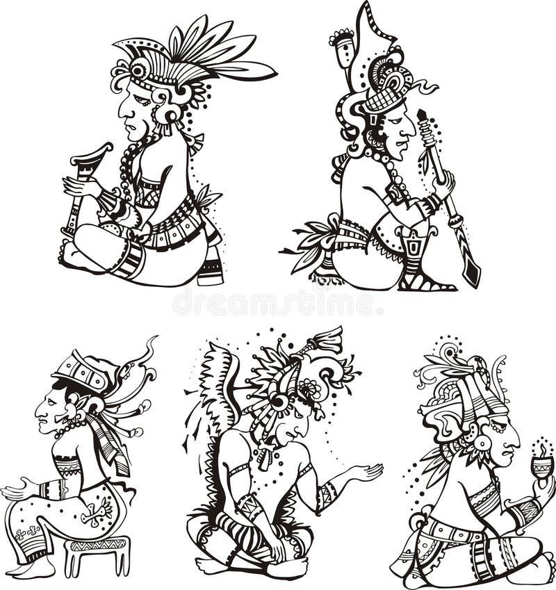 Caráteres do Maya ilustração royalty free