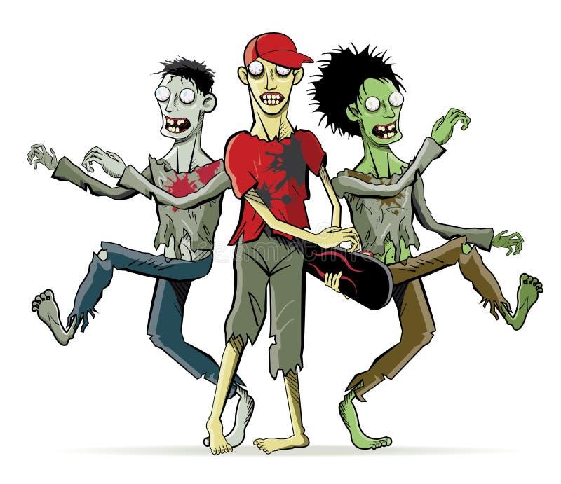 Caráteres do zombi dos desenhos animados ilustração royalty free