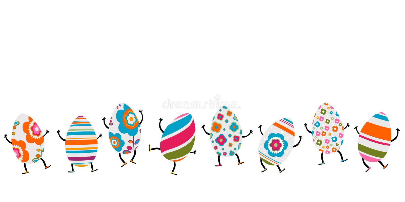 Caráteres dos ovos da páscoa ilustração do vetor