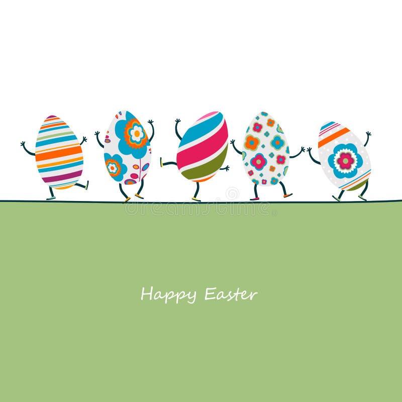 Caráteres dos ovos da páscoa ilustração royalty free