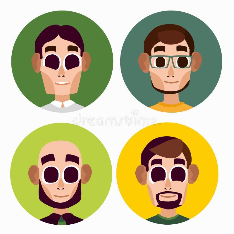 Caráteres lisos dos homens do escritório imagem de stock royalty free