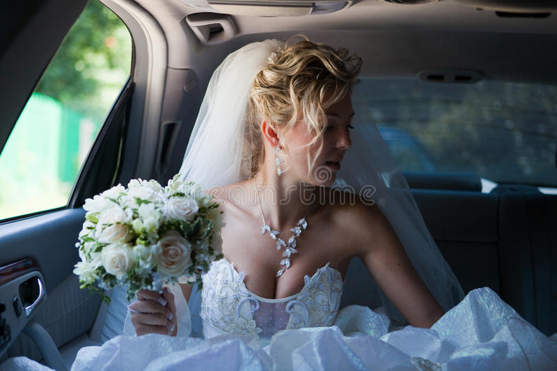 In the car royalty free stock images