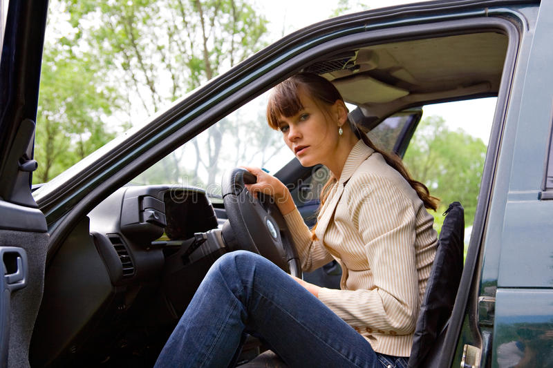 Download In car stock image. Image of travel, face, wheel, female - 10829417