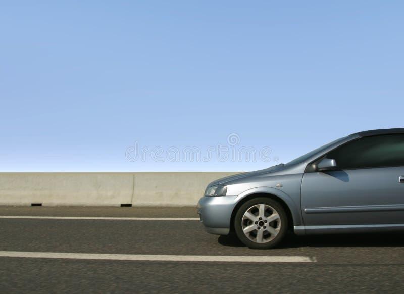 Car. A car on the Autobahn stock images