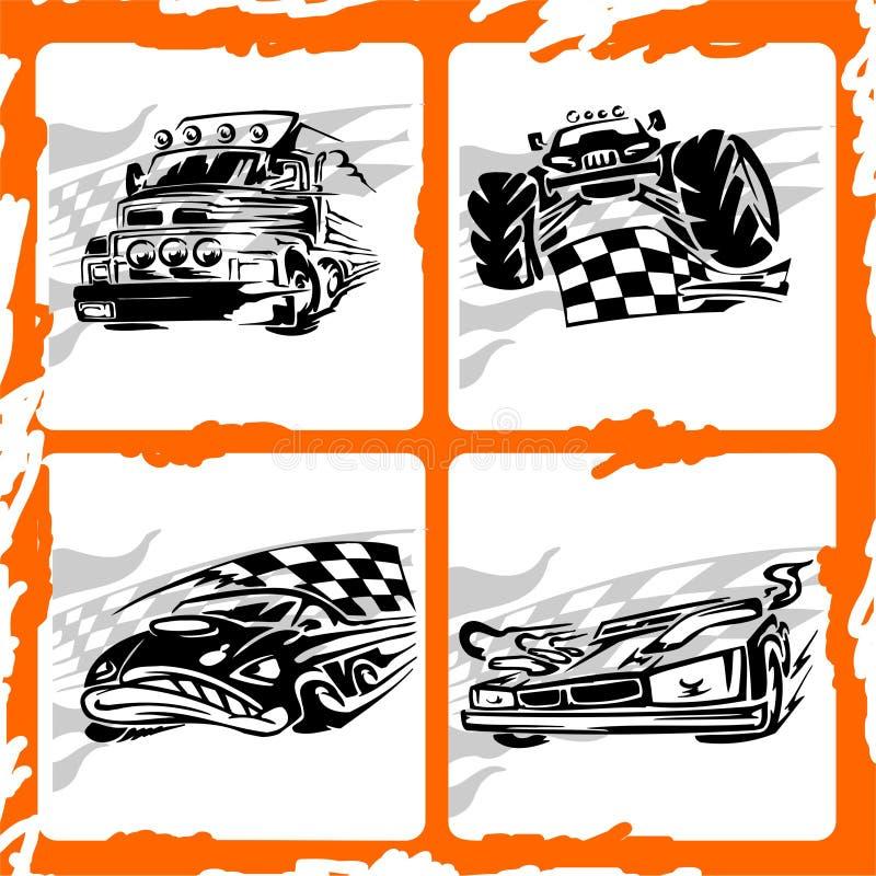 Car. Tribal Racing Car. 4x4 Off-Road Symbol
