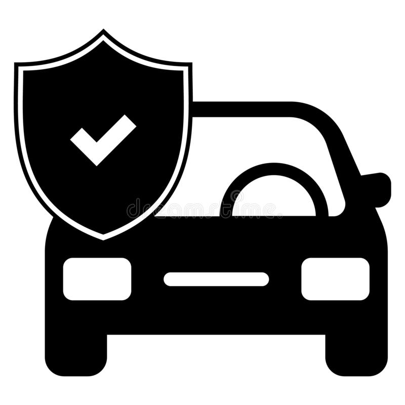 Car insurance icon. Vector illustration - pixel perfect car insurance flat icon black - on isolated white background vector illustration
