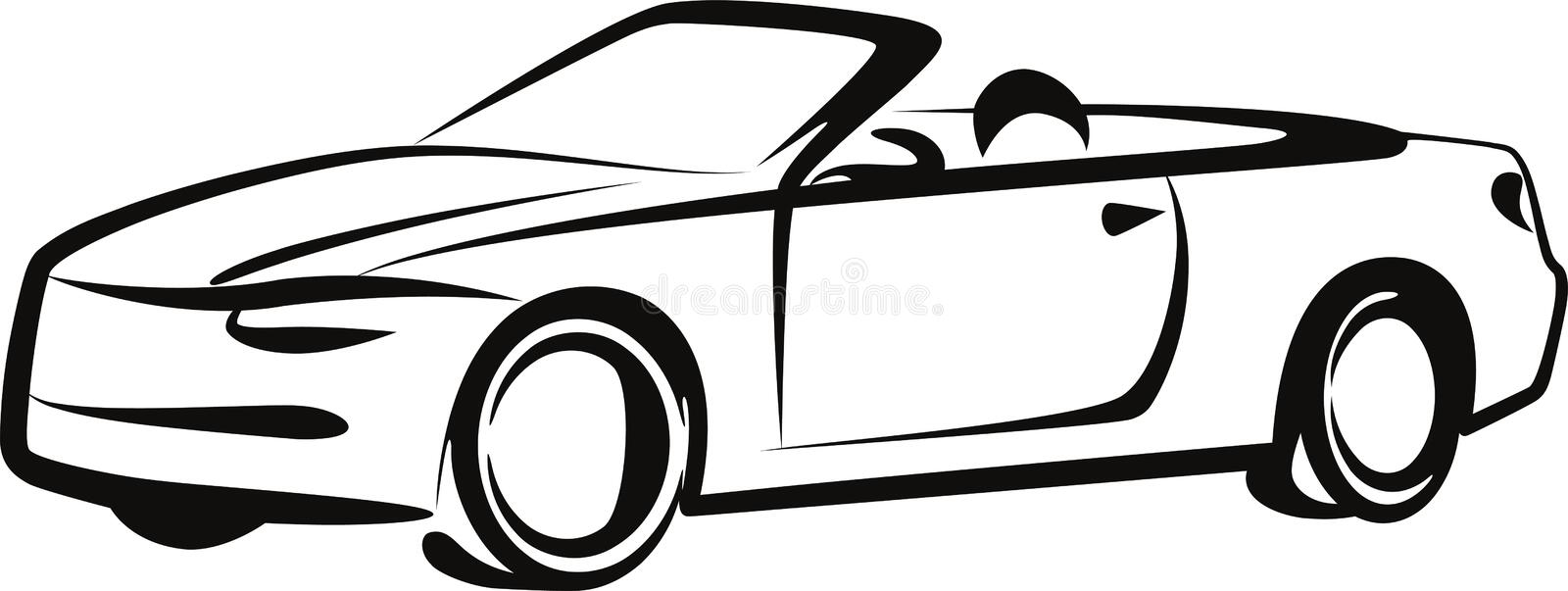 Car. Simple illustration with a car vector illustration