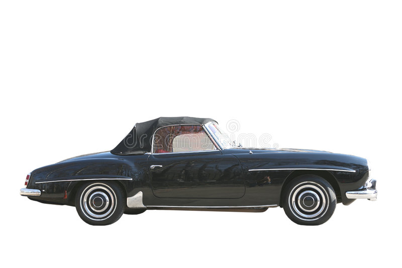 Car from 1960's. Old-time Black Car from 1960's, Atheletic Coupe royalty free stock image