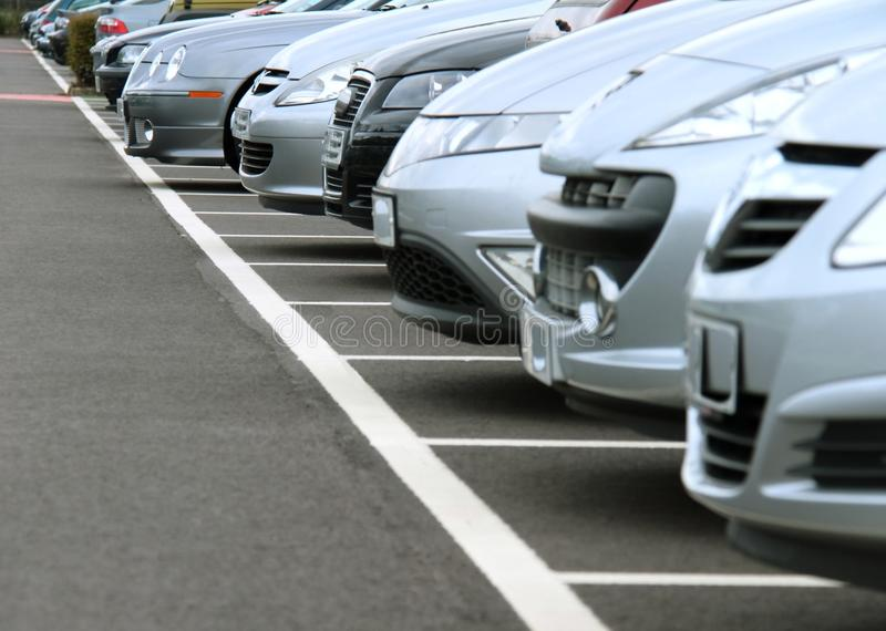 Car 3. Parking at london airport on a busy day stock photo royalty free stock photo