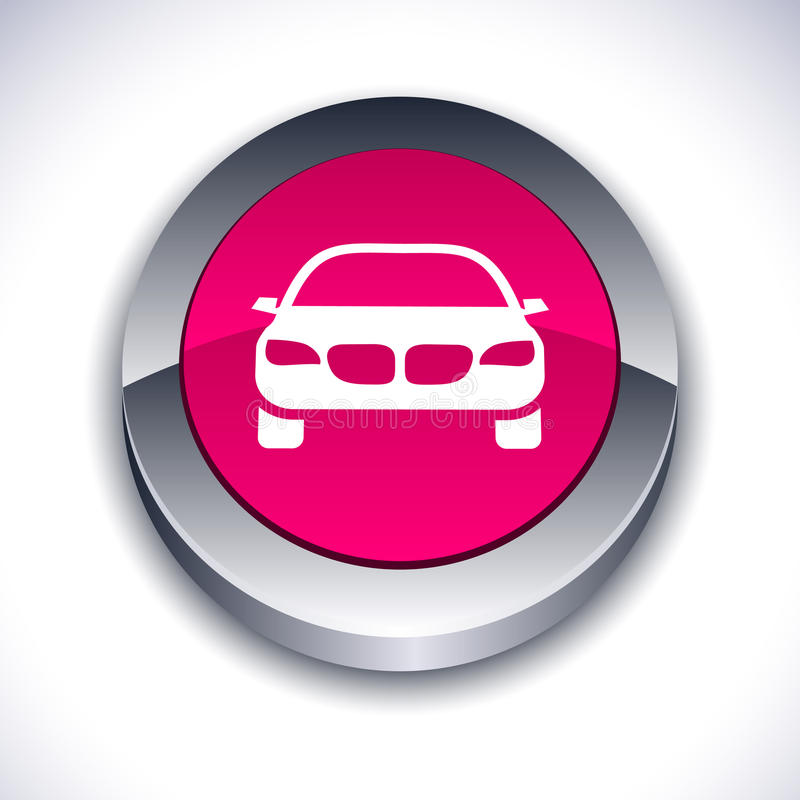 Free Car 3d Button. Stock Photography - 14942812