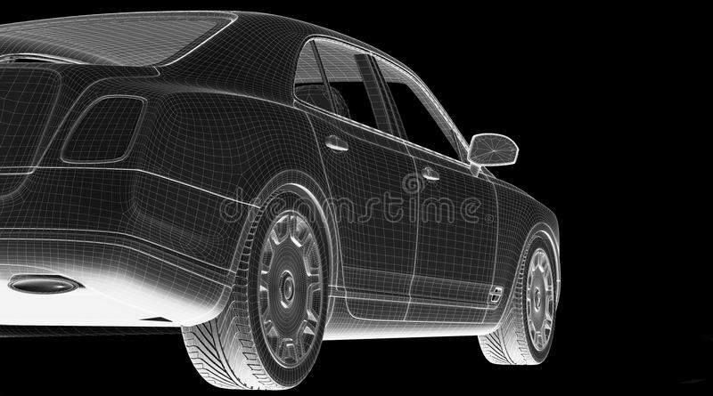 Download Car 3D Model Royalty Free Stock Photography - Image: 29382997