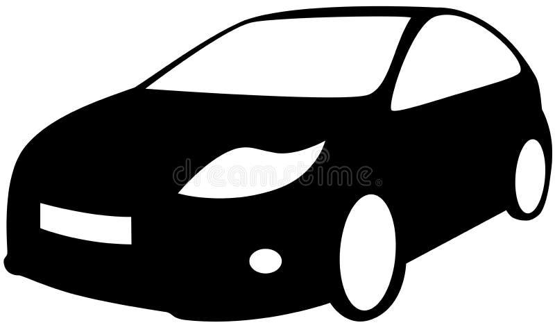 Car. A car - Black Silhouette, isolated. Vector illustration