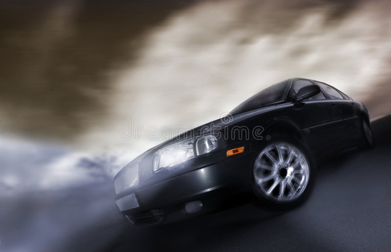 Car. On the move stock photo