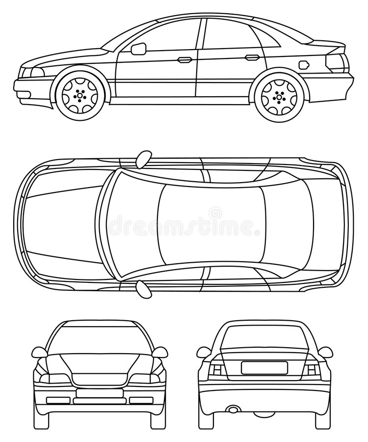 generic saloon car diagram stock vector  illustration of carry