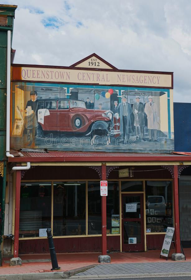 The Car Above The Street Mural Editorial Stock Photo - Image of ...