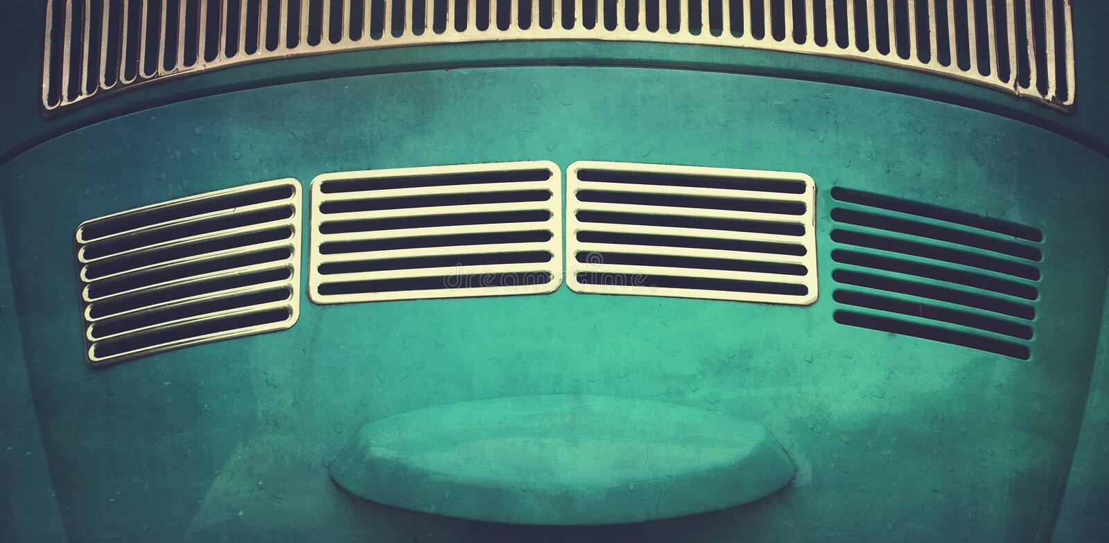 Car Abstract. Abstract rear boot of vintage VW bug stock photography