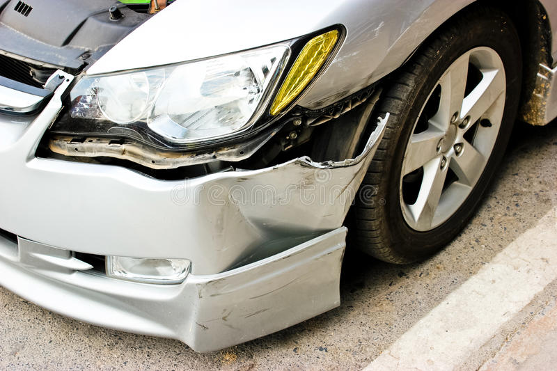 A car accident. royalty free stock images