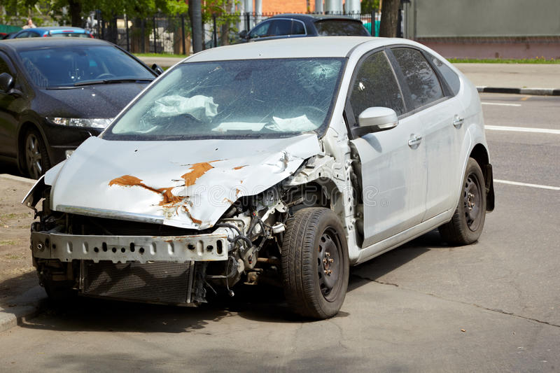 Download Car after an accident stock image. Image of fall, automobile - 25446481