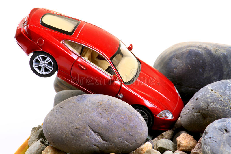 Car accident. Concept shot of car accident stock photos