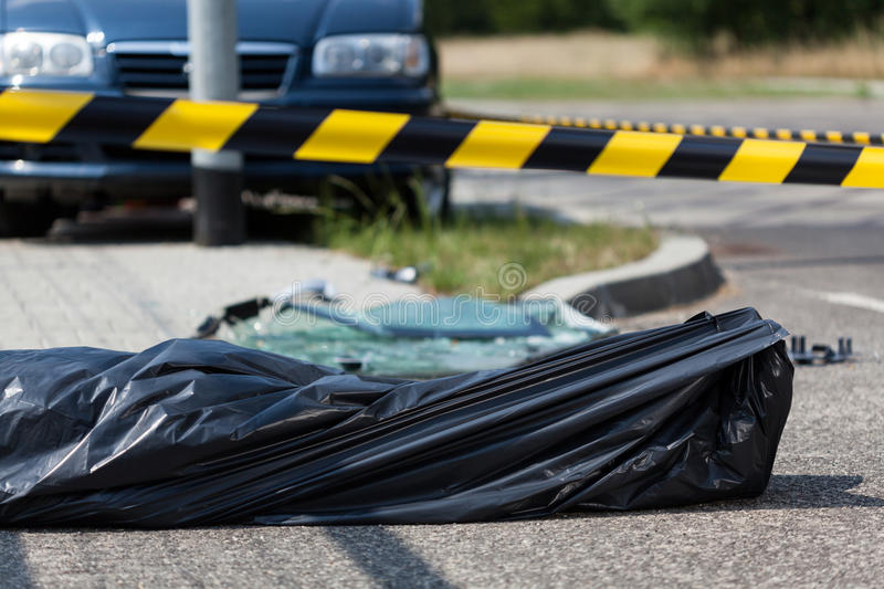Car accident casualty royalty free stock photos