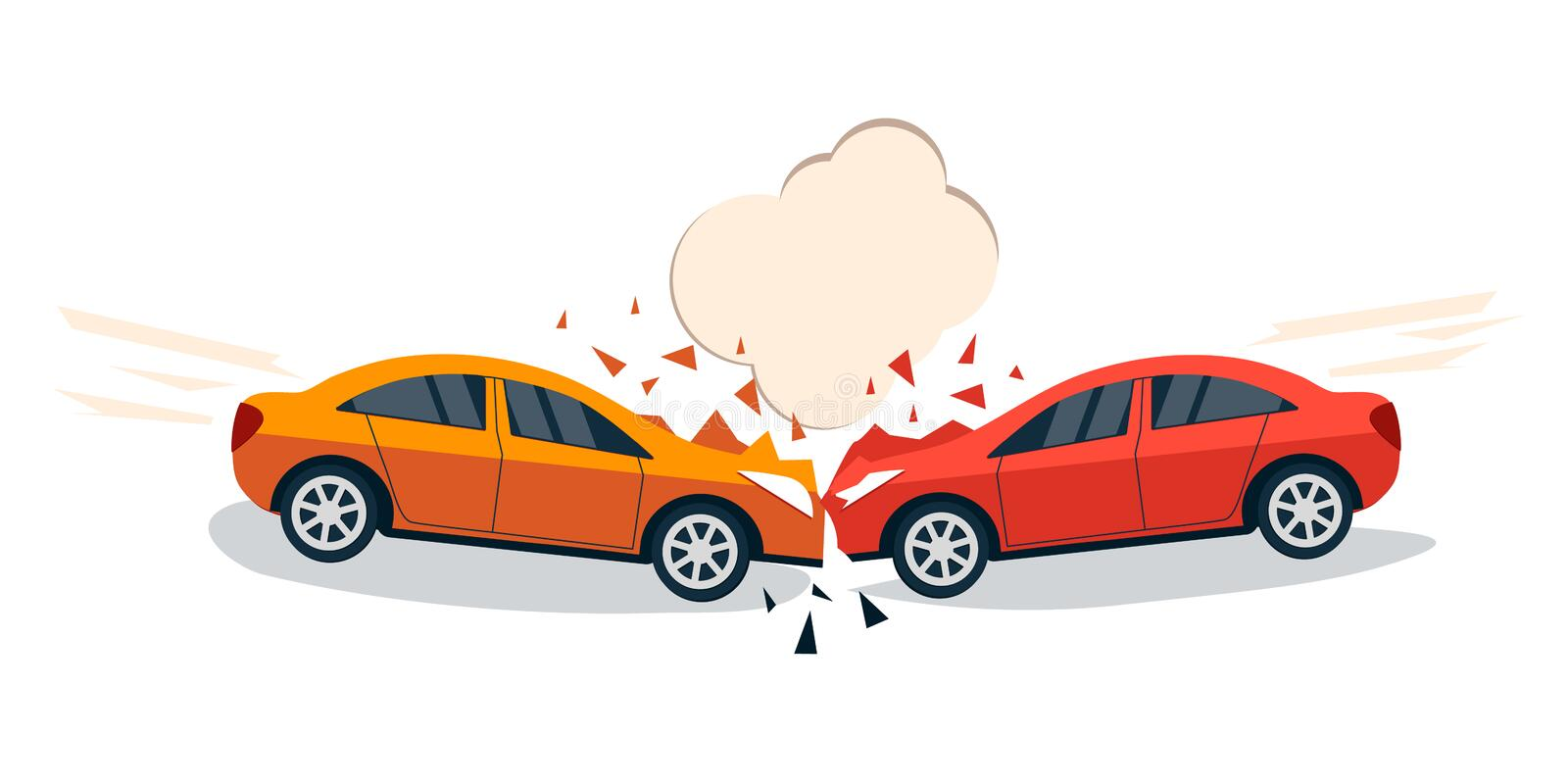 Car accident comic style vector illustration vector illustration