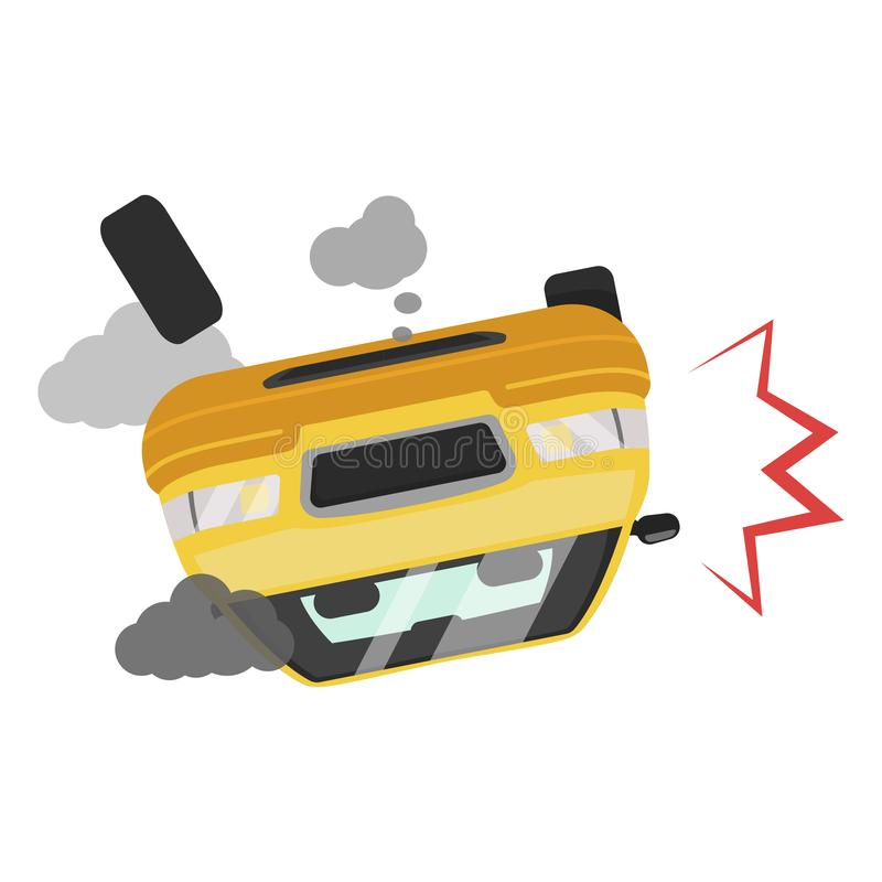Car accident icon, road traffic vehicle fatality stock illustration