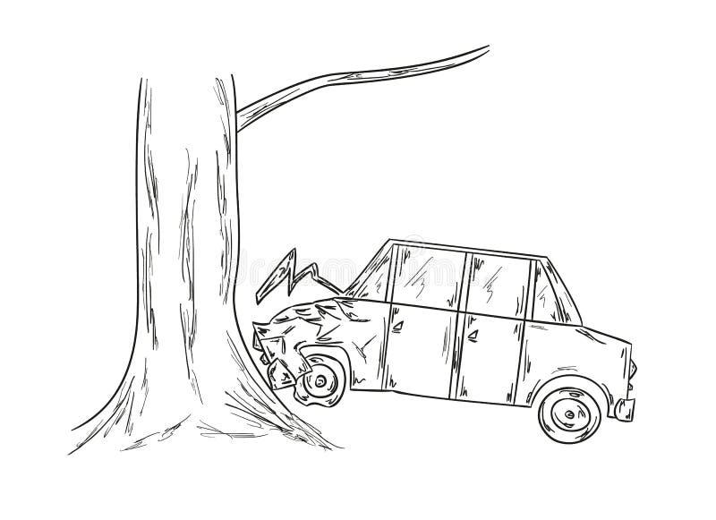 Car accident sketch stock vector. Illustration of danger - 40079903