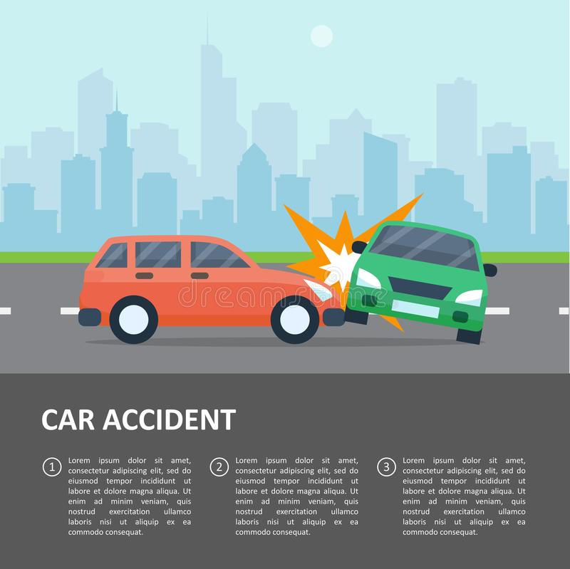 Car accident template stock vector. Illustration of automobile ...