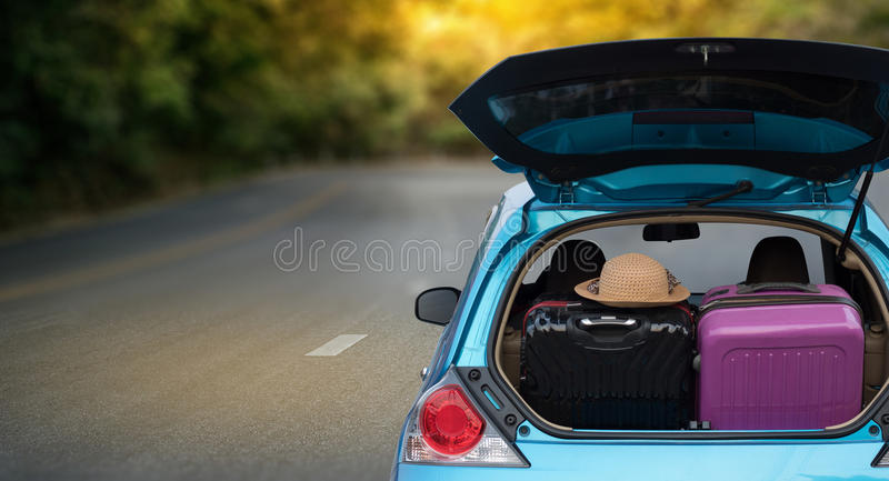 Car adventure! relaxing and enjoying road trip. rides into the. Sunset trip stock photos