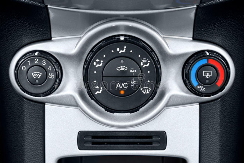 Download Car Air Conditioning Controls Stock Image - Image: 21461363