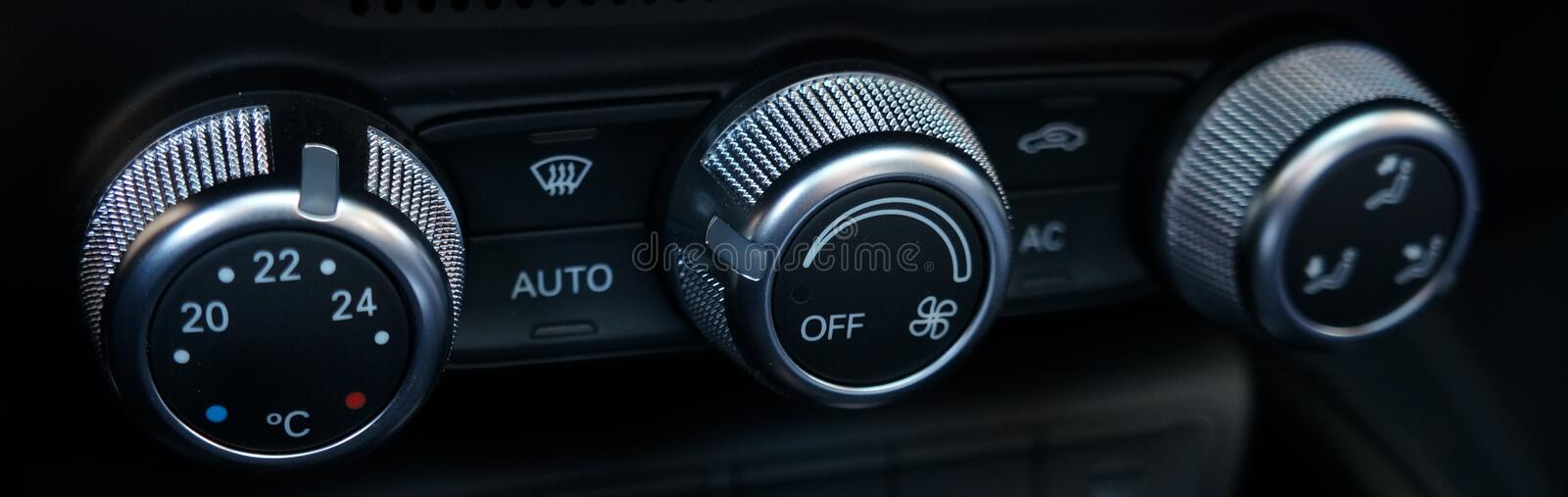 Car air conditioning controls stock image