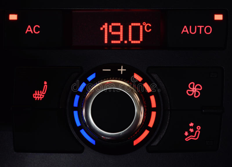 Car air conditioning. A vehicles air conditioner controls and settings royalty free stock photography