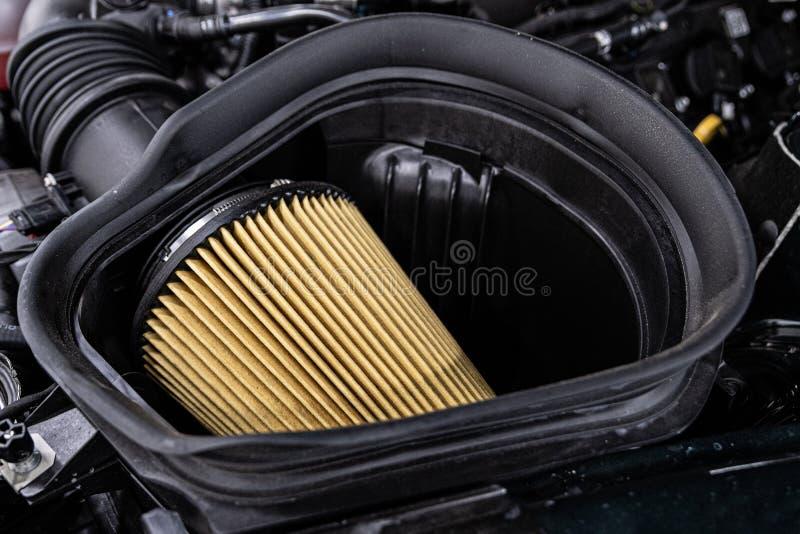 Car air filter. Car engine air filter royalty free stock images