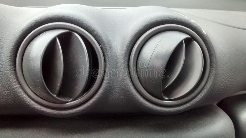 Car air vents. Various pictures of air vents stock photos