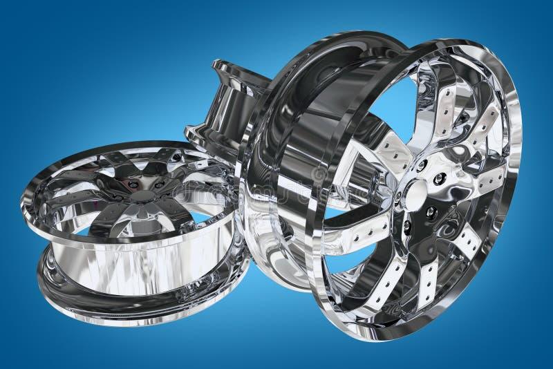 Car Alloy Wheels vector illustration