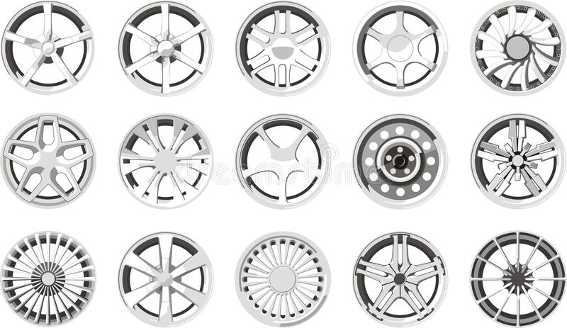 Car alloy wheels royalty free illustration