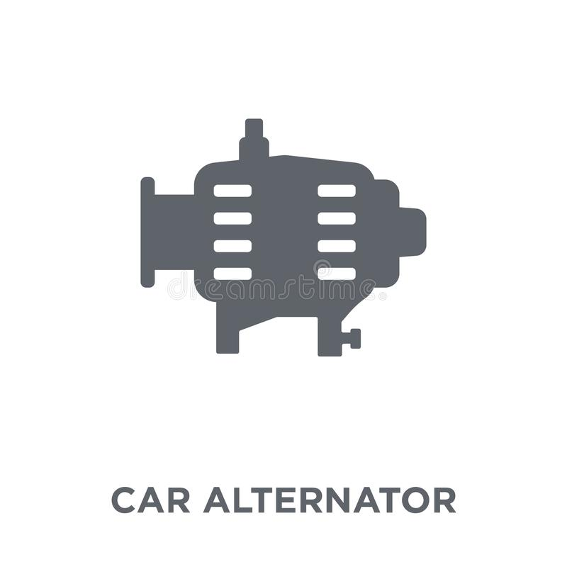 car alternator icon from Car parts collection. royalty free illustration