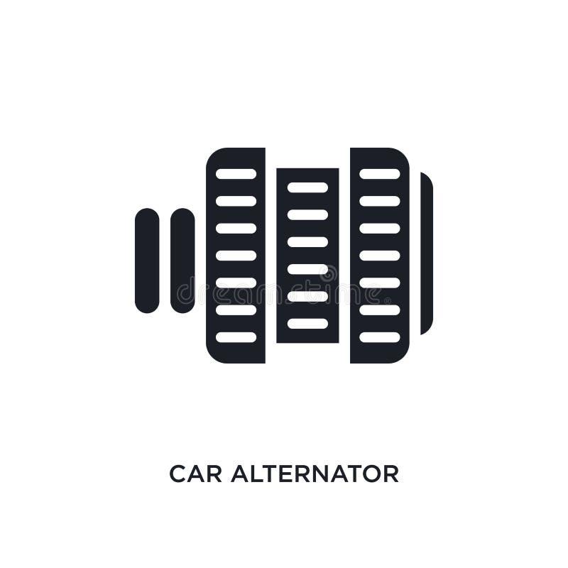 car alternator isolated icon. simple element illustration from car parts concept icons. car alternator editable logo sign symbol vector illustration