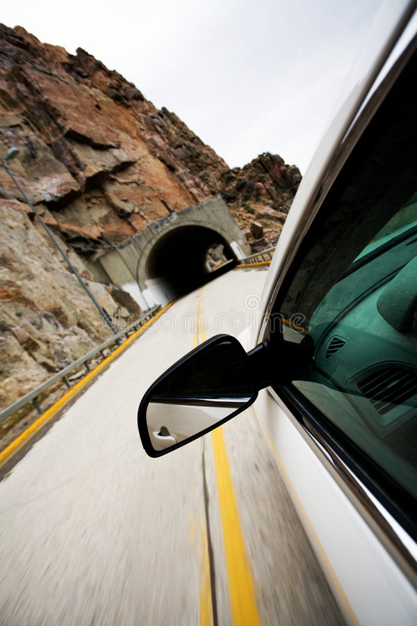 Download Car Approaching Tunnel Through Stock Image - Image: 5202083