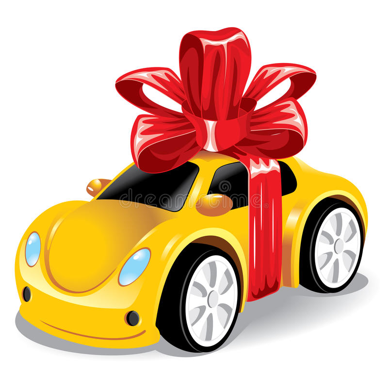 Download Car as a gift to you stock vector. Illustration of gift - 13299505