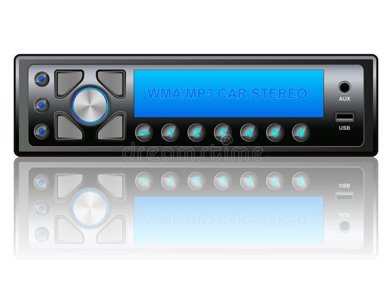 Car audio icon vector illustration