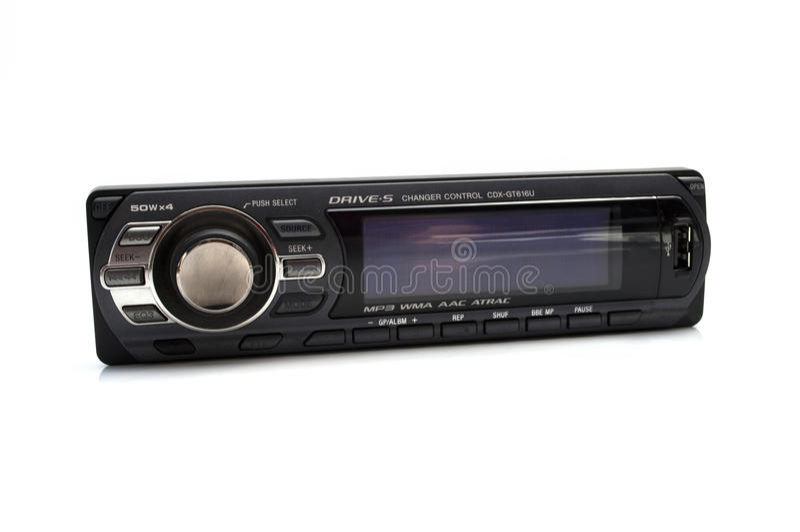 Car audio player royalty free stock photos