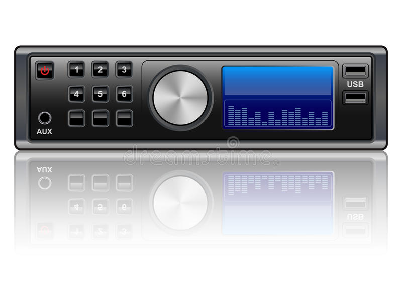Car audio system royalty free illustration