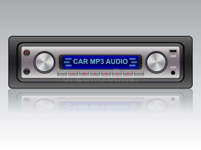 Car audio system icon stock illustration