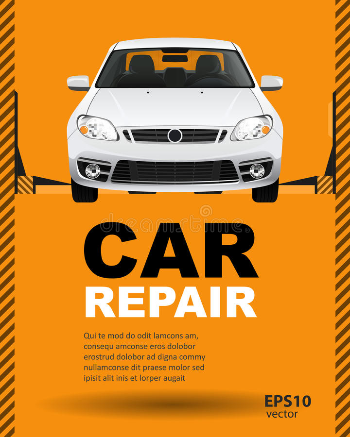 Car auto repair lift stock illustration