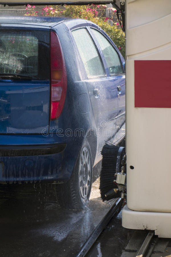 Car in Automatic Washing royalty free stock images